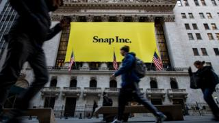 Snap IPO poster on Wall Street