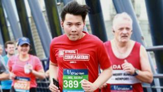 Wil Sern Ong during the Swansea Half Marathon 2019