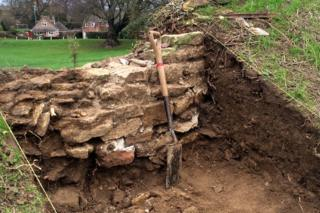 The ancient walls of Oakham Castle