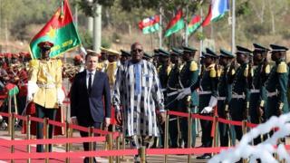 Macron,Kabore,Burkina,France
