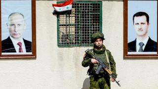 A member of the Russian military police in Syria, March 2018