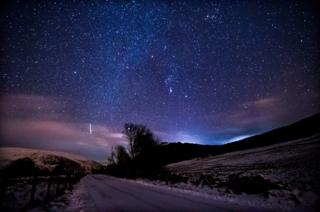 Stars above East Ayrshire.