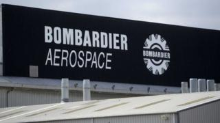 Bombardier Aerospace sign