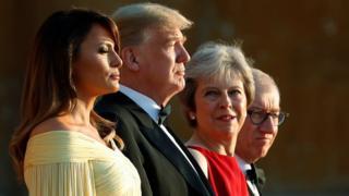 Дональд Трамп и Тереза Мэй с супругами