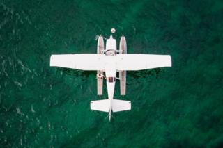 Seaplanes are pictured on Lake Geneva prior to taking off during a meeting of the Swiss Association of Seaplane Pilots (SPAS) in Perroy, Switzerland, 24 June 2017