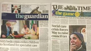 英國報紙頭條(2016年12月12日)