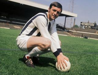 1970: Jeff Astle (1942 - 2002) of West Bromwich Albion Football Club