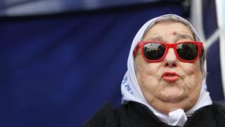 Hebe de Bonafini during a demonstration in Buenos Aires, 4 August 2016
