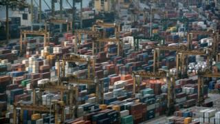 Container port at Singapore