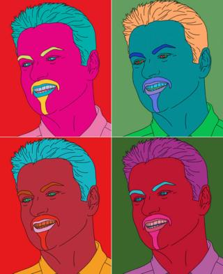 George Michael portraits by Sir Michael Craig-Martin
