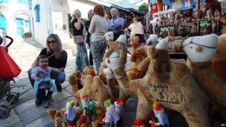 Tourist scene in Tunisia