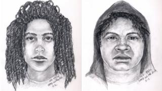 Sketches of suspected attackers