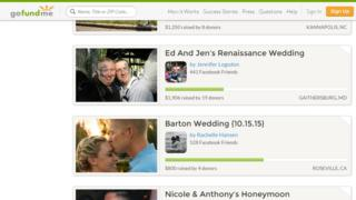 """""""Newlyweds"""" is a popular category on the crowdfunding site GoFundMe"""
