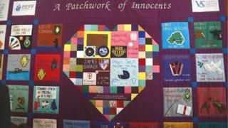 Patchwork quilt dedicated at service in Fivemiletown