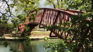 Rainbow bridge in Port Meadow