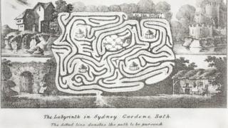 Sydney Gardens park in Bath