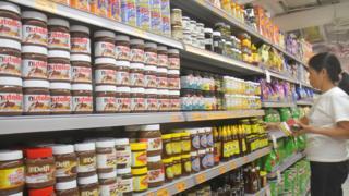 Süpermarkette nutella