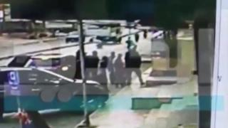 Screengrab of CCTV video appearing to show abduction of two children in Beirut on 6 April 2016