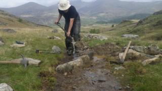 Snowdonia's public pathways are being rapidly eroded