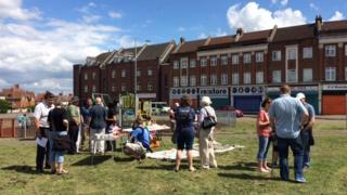 Peace party at Filwood play park