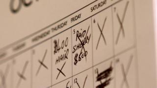 Anotação no calendário de Roy