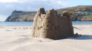 Sand castle on Port Erin