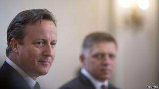 David Cameron (left) and Robert Fico