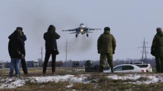 Russian air and air defence units in training in Rostov-on-Don Region