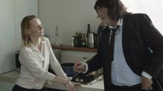 Sandra Huller and Peter Simonischek in Toni Erdmann