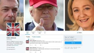 Fake twitter page