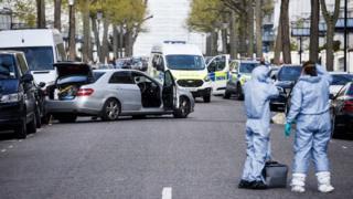 درگیری امروز در مقابل سفارت اوکراین در لندن