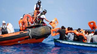 Rescate de refugiados