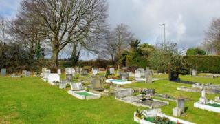Findon cemetery in West Sussex