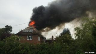 Fire at house in Stickney, Lincolnshire