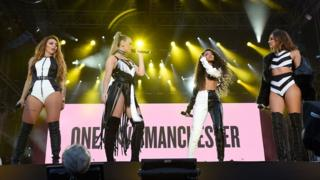 Little Mix perform at One Love Manchester