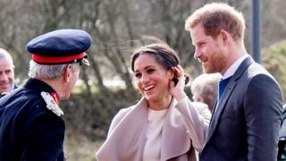 Prince Harry and Meghan Markle arrive in Lisburn, County Antrim