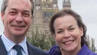Victoria Ayling with Nigel Farage