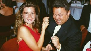 Birmingham City managing director Karren Brady and chairman David Sullivan pose for a picture at a function, circa 1993.
