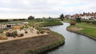 The Venetian Waterways in Great Yarmouth