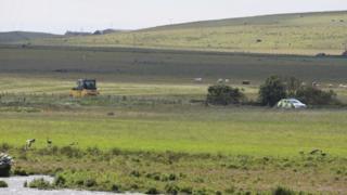 Orkney crash scene