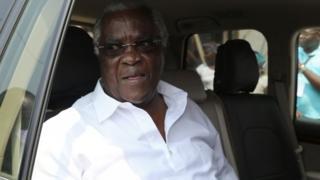 Sao Tome and Principe's incumbent President Manuel Pinto da Costa. Photo: July 2016