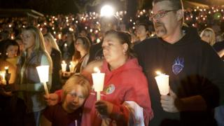Mourners held a vigil for victims