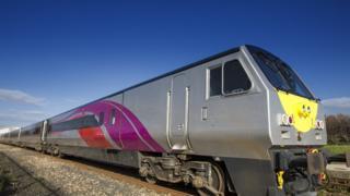 "Translink said the refurbished train was a ""major milestone"" in its £12.2m NI railways upgrade programme"