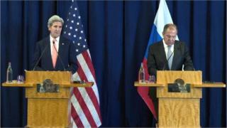Xoghaya Arrimaha Dibadda Mareykanka, John Kerry iyo Wasiirka Arrimaha Dibadda ee Ruushka, Sergei Lavrov,