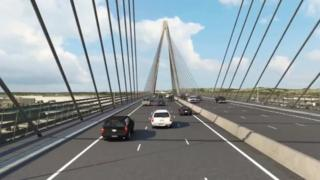 Artist impression of part of M4 relief road