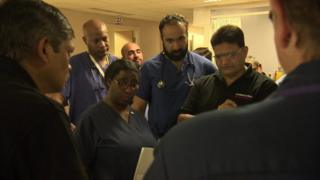 Staff at North Middlesex Hospital