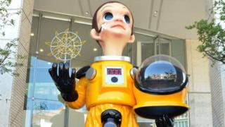 議論になっている福島の少年像「サン・チャイルド」
