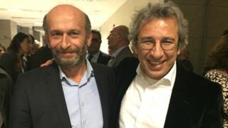 Erdem Gul (left) and Can Dundar