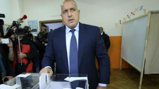 Boyko Borisov voting, 13 November 2016