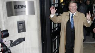 Sir Terry Wogan leaving Western House in December 2009